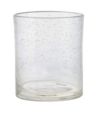 Pack of 6 Tag Bubble Double Old Fashioned Glasses, 15 Oz, Clear