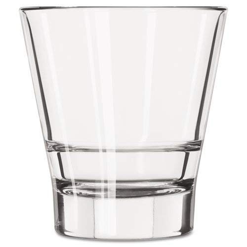 Libbey Endeavor Rocks Glasses, 12 oz, Clear, Double Old Fashioned Glass - 12 glasses.